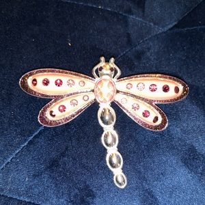 Jewelry - 5/$25 silver pink purple dragonfly pin brooch